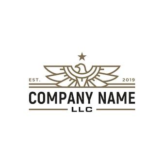 Elegant eagle hawk falcon logo