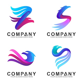 Elegant eagle logo design