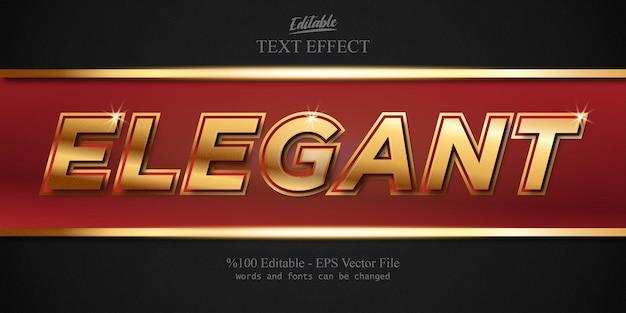 Элегантный редактируемый текстовый эффект вектор