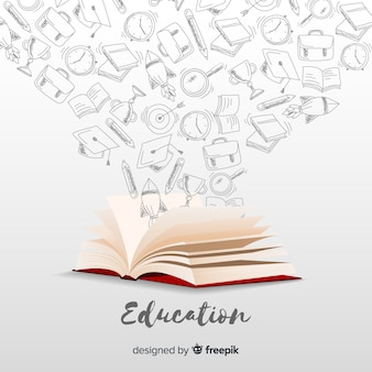 Elegant education concept with realistic design