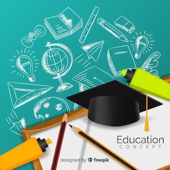 Elegant education concept with realistic design