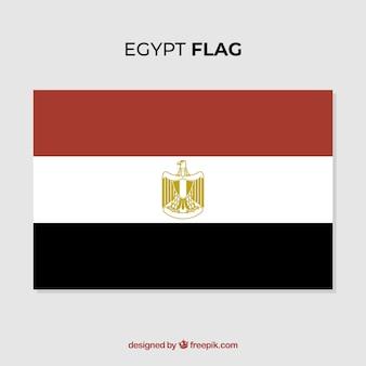 フラットなデザインのエレガントなエジプトの旗