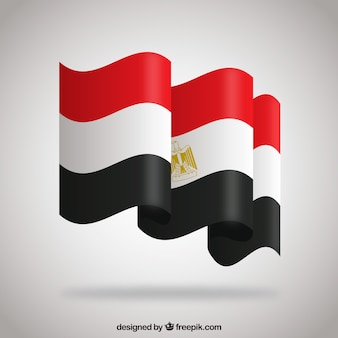 Elegant egyptian flag with flat design