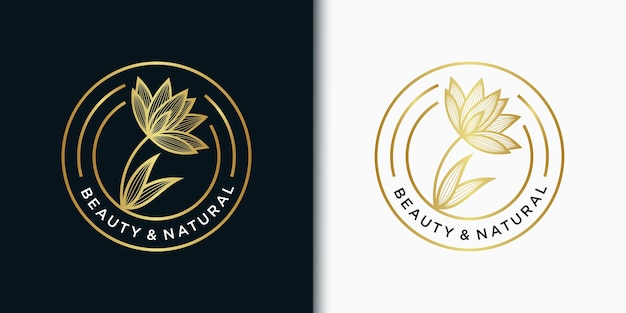 Elegant emblem logo template flower for beauty, cosmetic, yoga, wedding, spa, salon, boutique and other beauty products