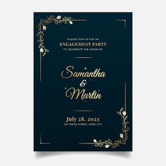Elegant engagement invitation template