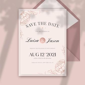 Elegant engagement invitation template