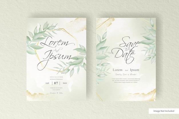 Elegant engagement wedding invitation set template