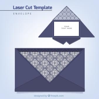 Elegant envelope template with laser cut