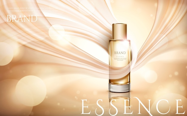 Elegant essence ads illustration