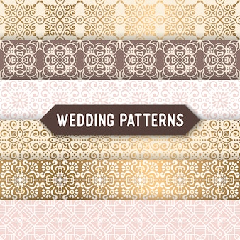 Elegant ethnic golden patterns