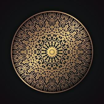 Элегантный исламский фон мандал в этническом стиле