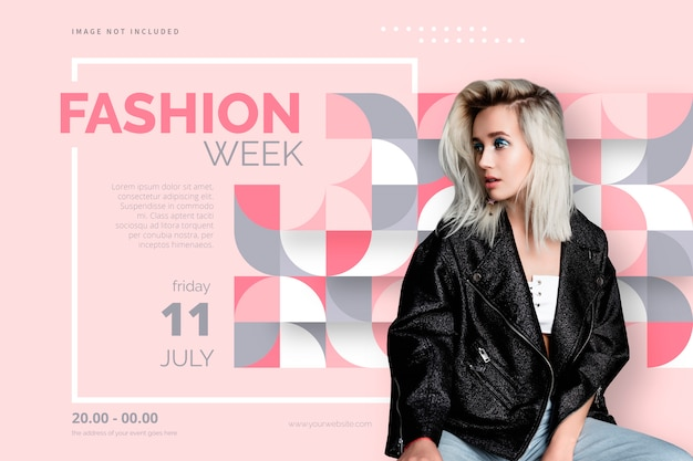 Elegant fashion poster template