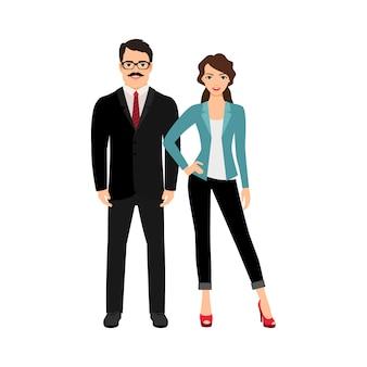 Elegant fashionable happy couple