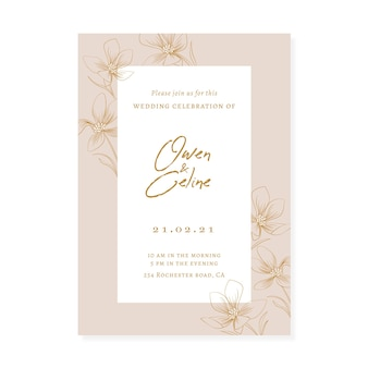 Elegant feminine save the date invitation theme