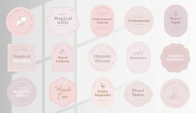 編集可能なテキストとウィンドウライトの背景を持つエレガントなフェミニンなスタイルのロゴ