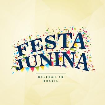 Elegant festa junina design