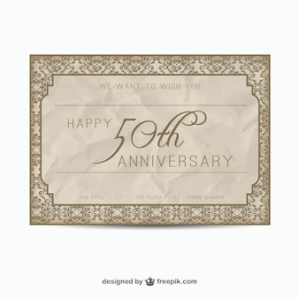 Elegant fifty anniversary card