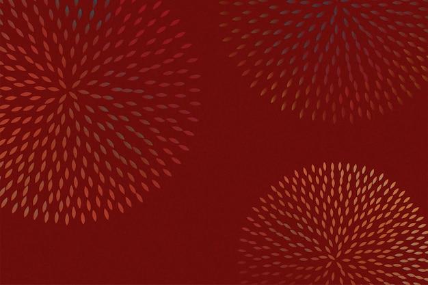 Elegant firework or flower petal pattern on burgundy red background