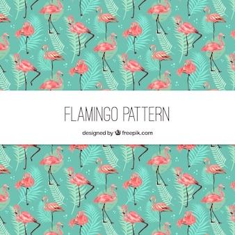 Elegant flamingo pattern