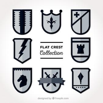 Elegant flat shields pack