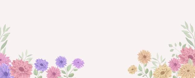 エレガントな花のバナー