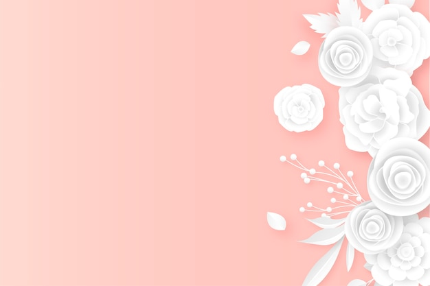 Elegant floral border in background with soft colors
