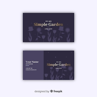 Elegant floral business card template