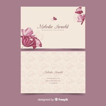 명함 템플릿-우아한 꽃