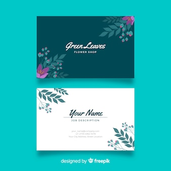 Elegant floral business card