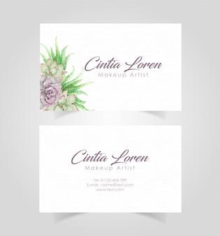 Elegant floral business name card template
