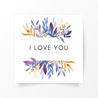 Elegant floral card with love message