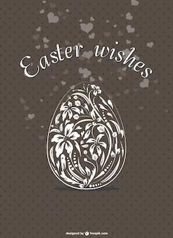 Элегантный цветочный пасхальное яйцо карты
