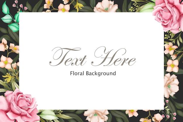 아름 다운 꽃과 우아한 꽃 프레임 배경