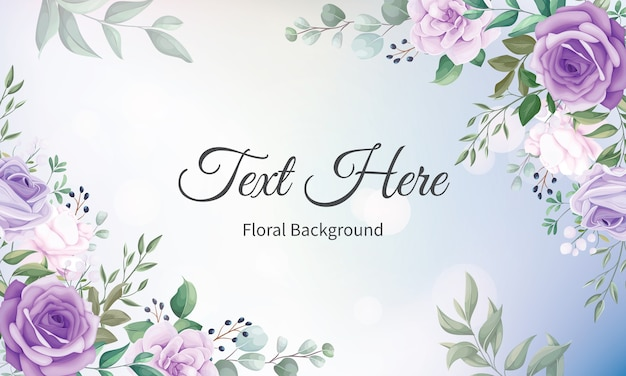 Elegant floral frame background with beautiful floral