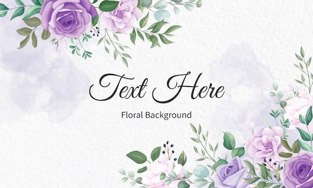 Элегантный цветочный фон рамки с красивым цветочным