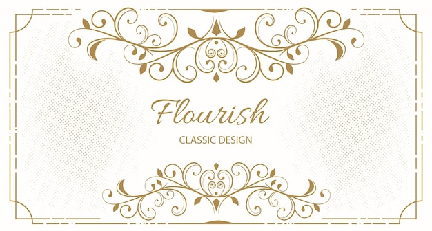Elegant floral frame background