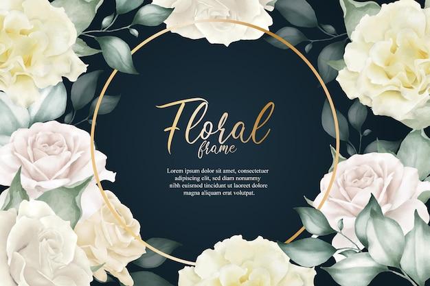 우아한 꽃 프레임 꽃