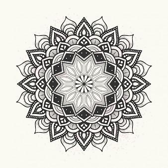 Elegant floral mandala