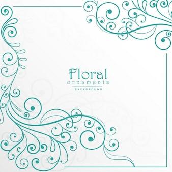 Elegant floral ornamental frame