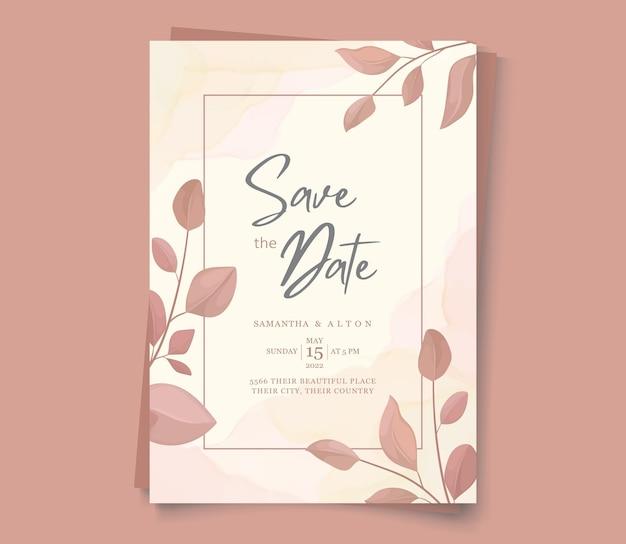 Элегантное цветочное приглашение сохранить дату