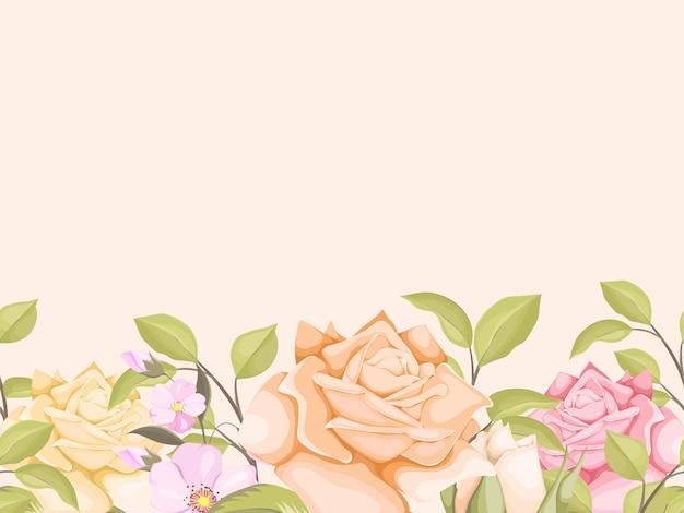 壁紙とテキスタイルのためのエレガントな花のシームレスな背景テンプレート