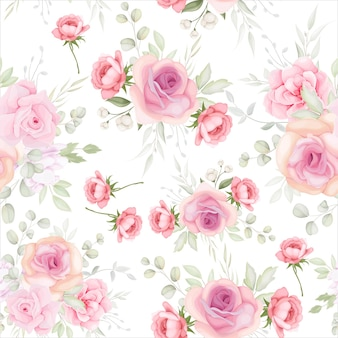 Elegant floral seamless pattern with soft flower decoration