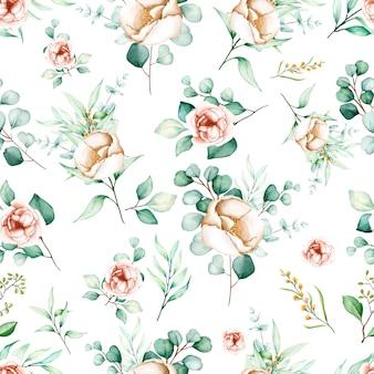 Элегантный цветочный бесшовный узор