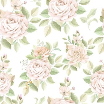 エレガントな花のシームレスなパターン