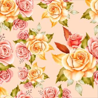 エレガントな花のシームレスパターン