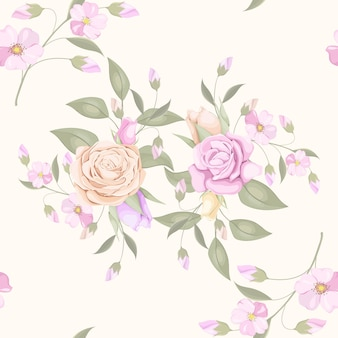 エレガントな花柄のシームレスパターン