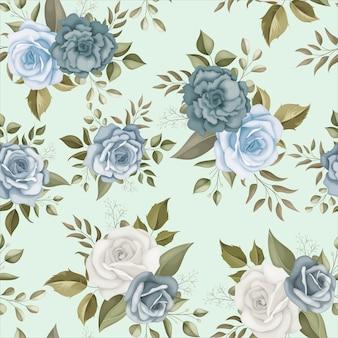 우아한 꽃 원활한 패턴