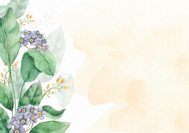 エレガントな花の水彩画の背景テンプレート Premiumベクター