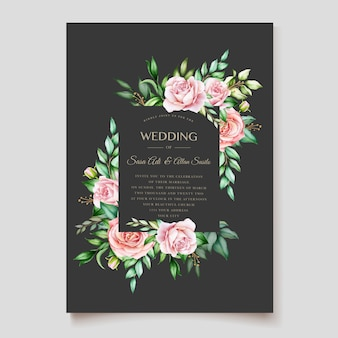 Elegant floral wedding card design