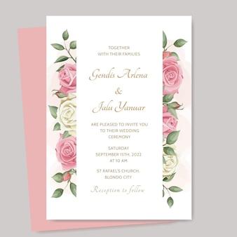 우아한 꽃 웨딩 카드 테마